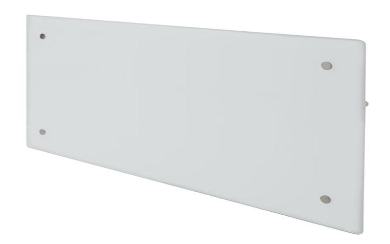 Glass heater H60 H08 WT White
