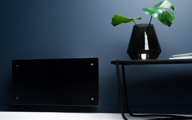 Glass heater H60 H12 WT Black