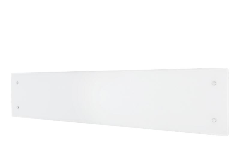 Glass heater H60 L08 WT White