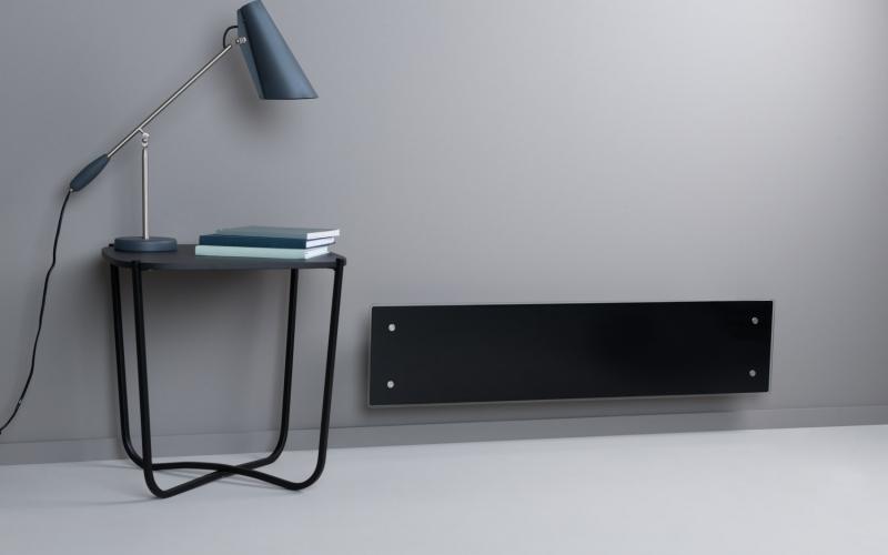 Glass heater H60 L08 WT Black
