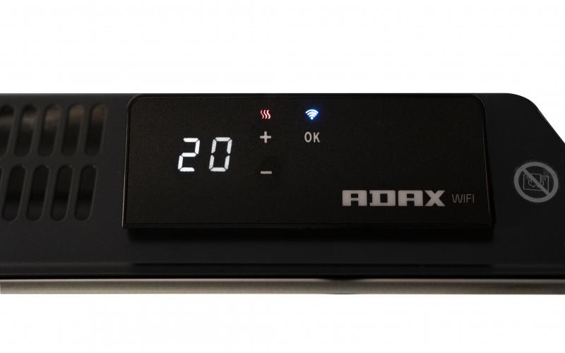 Glass heater ADAX CLEA L08 KWT Black